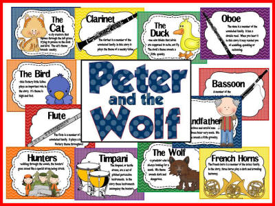 Peter and the Wolf-download on Bulletin Board Kits page!