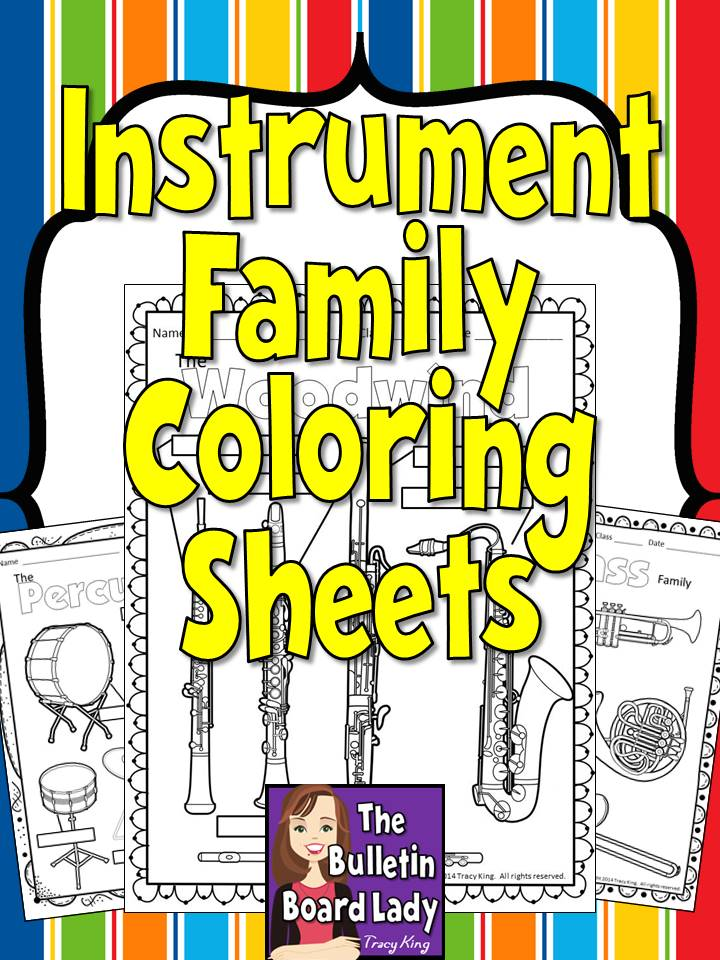 brass family instruments coloring pages - photo#33